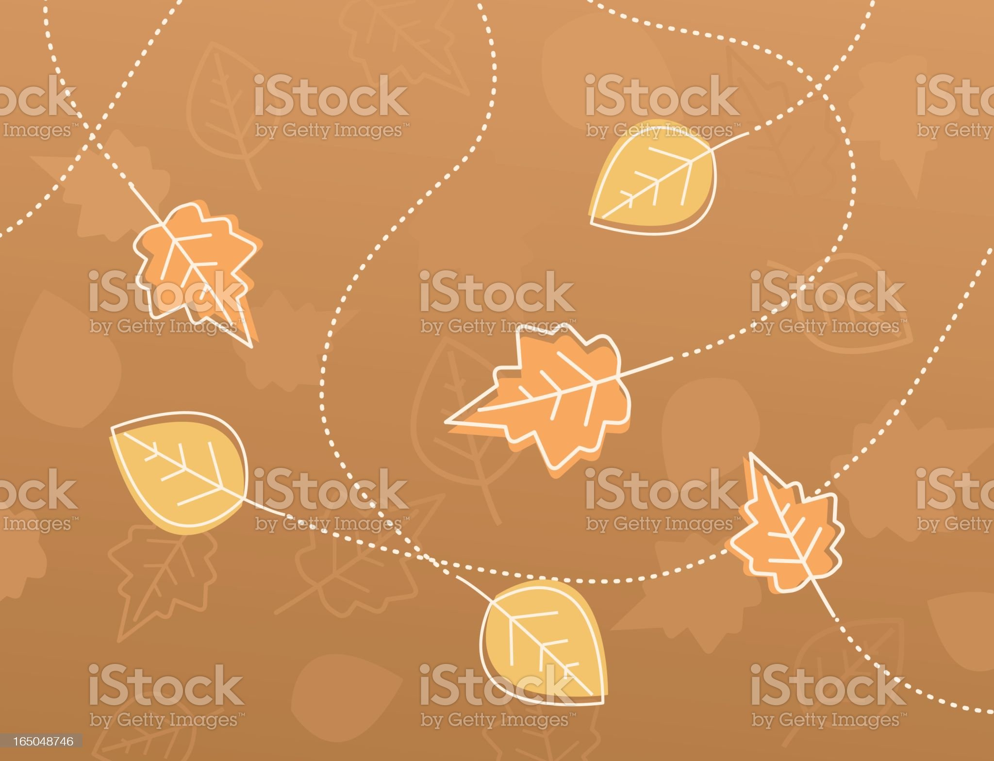 autumn leaves composition royalty-free stock vector art