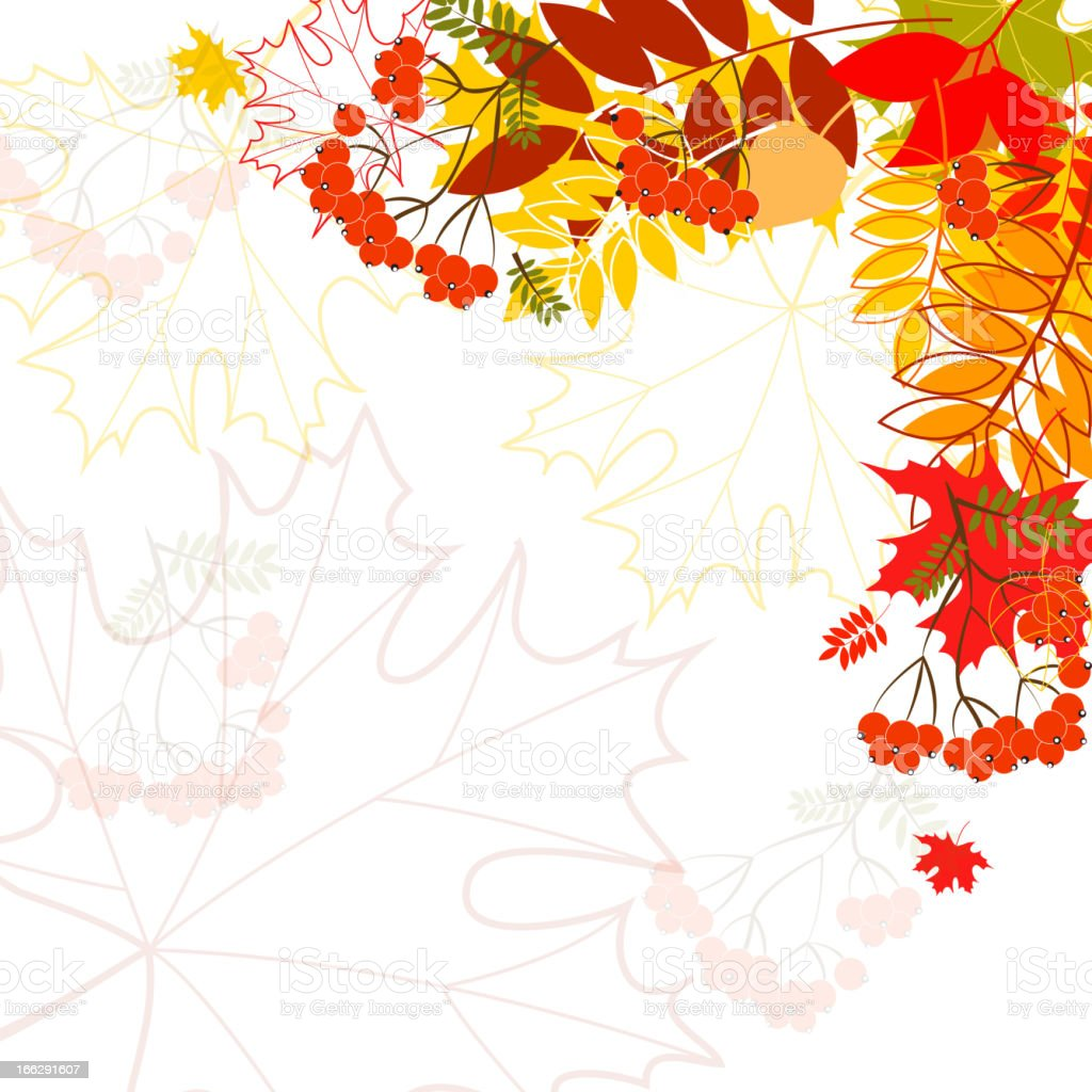 Autumn leaves falling background royalty-free stock vector art
