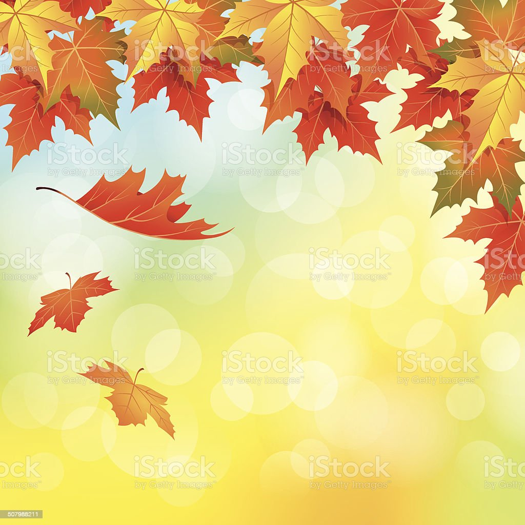 Autumn Leaves Falling royalty-free stock vector art