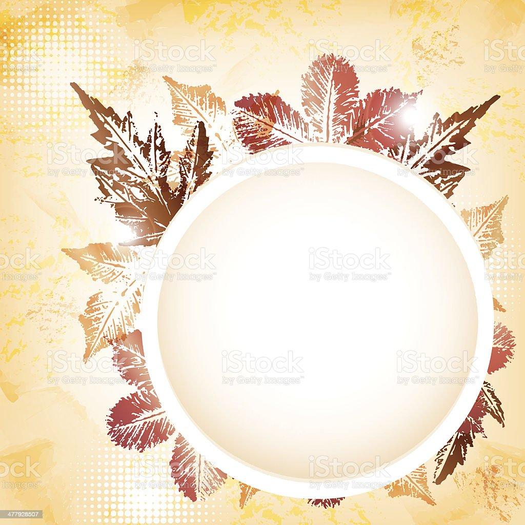 Autumn leaves greeting card royalty-free stock vector art