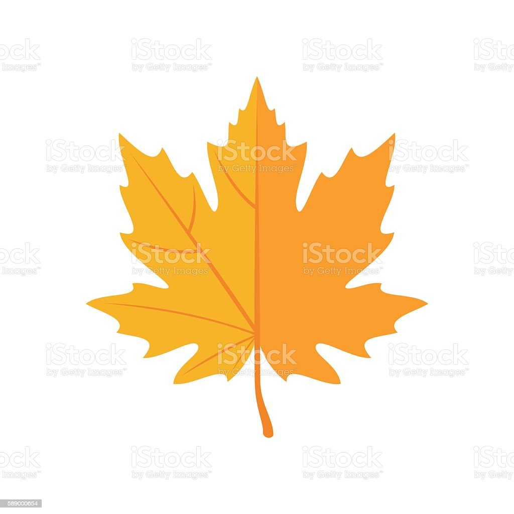 Autumn Leaves icon in flat style. vector art illustration