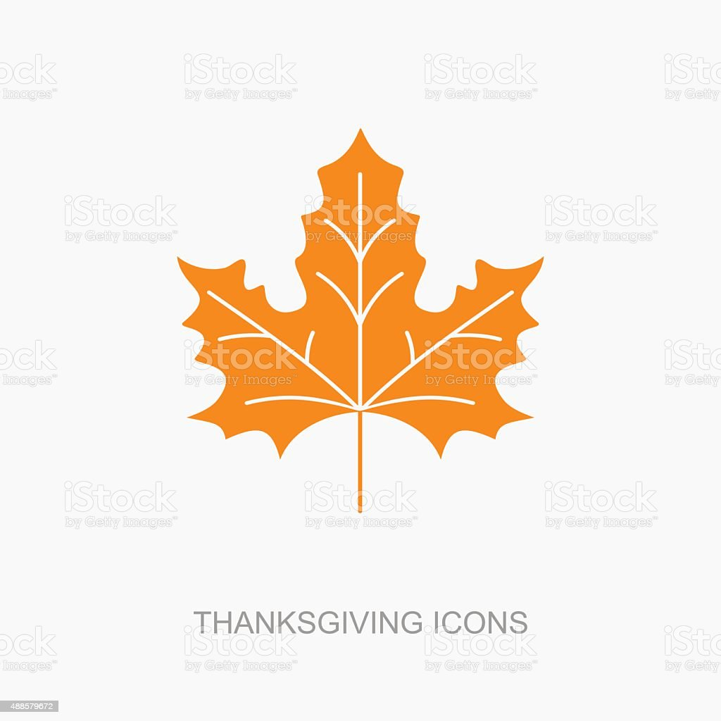 Autumn Leaves icon, vector art illustration