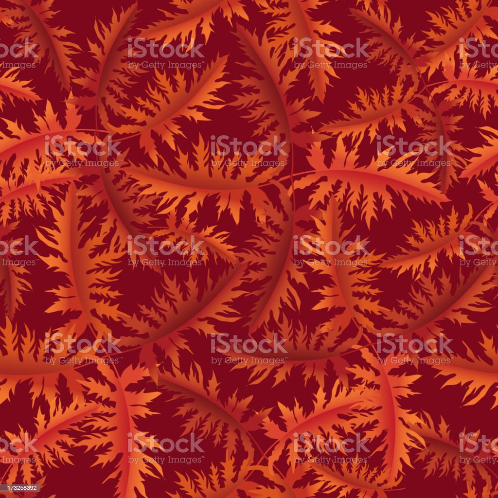 Autumn leaves seamless background. royalty-free stock vector art