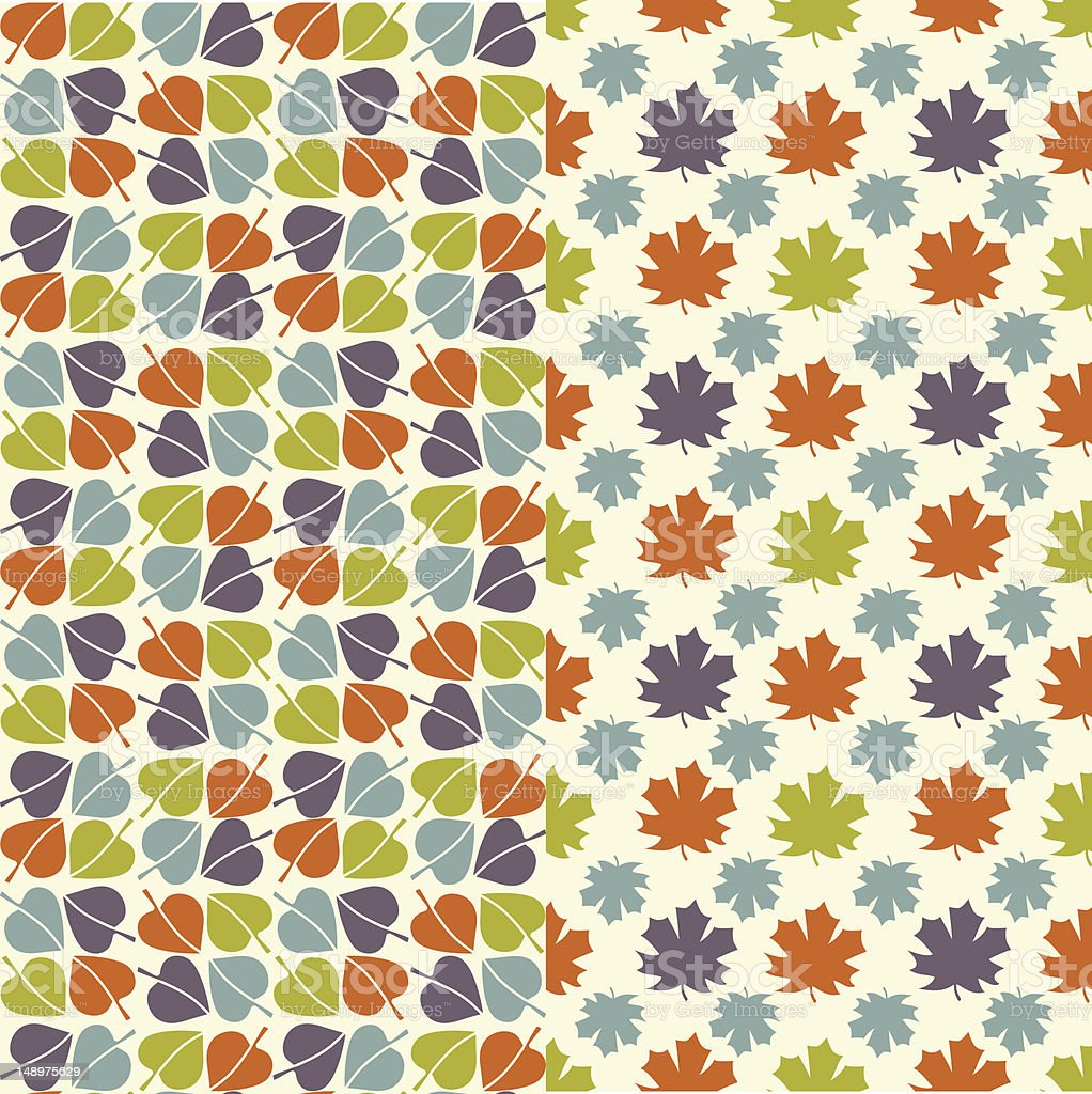 Autumn leaves - seamless pattern royalty-free stock vector art