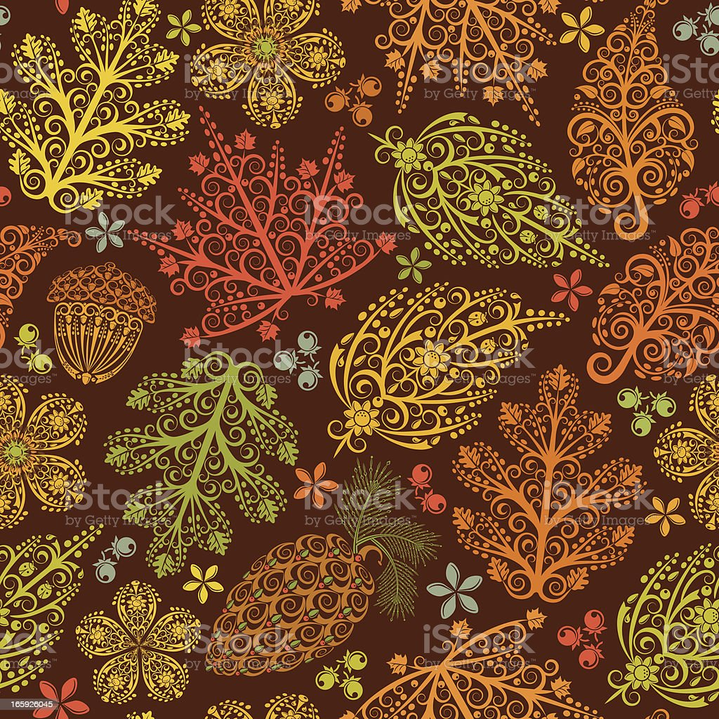 Autumn Leaves Seamless Pattern royalty-free stock vector art