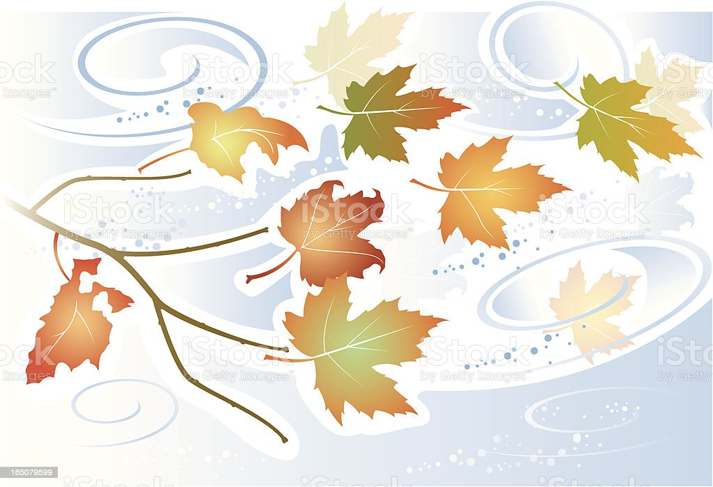 Autumn leaves two. royalty-free stock vector art