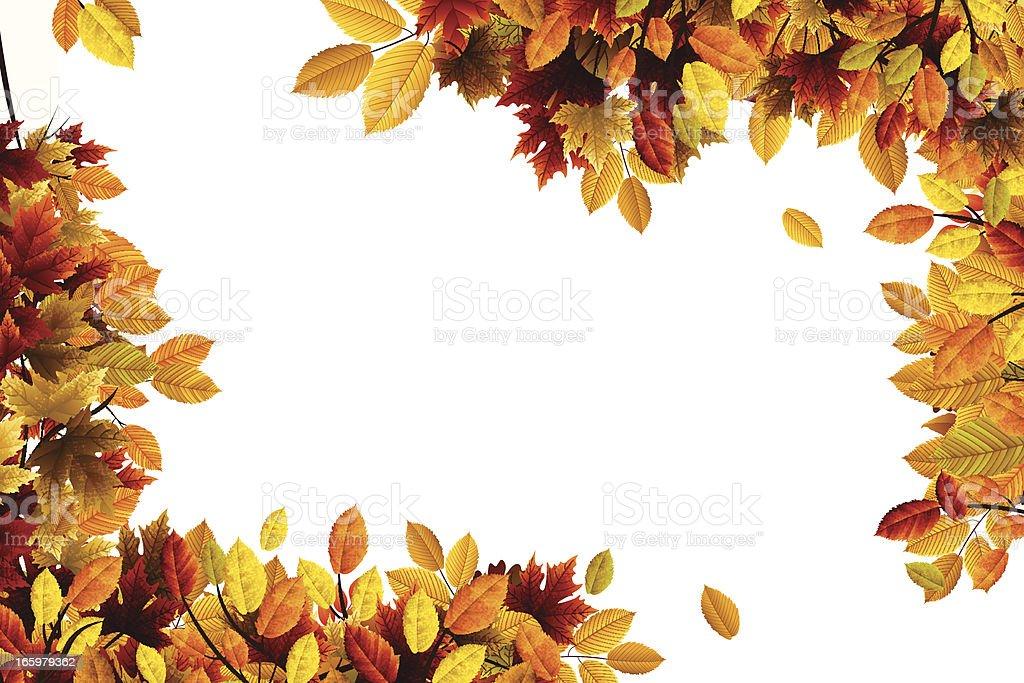 Autumn Leaves royalty-free stock vector art