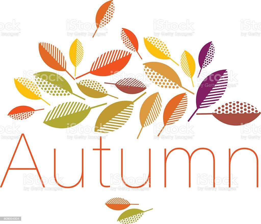 autumn leaves vector illustration abstract. vector art illustration