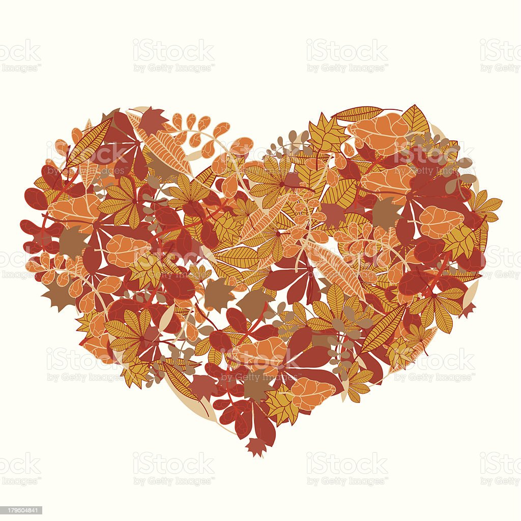 Autumn love vector art illustration