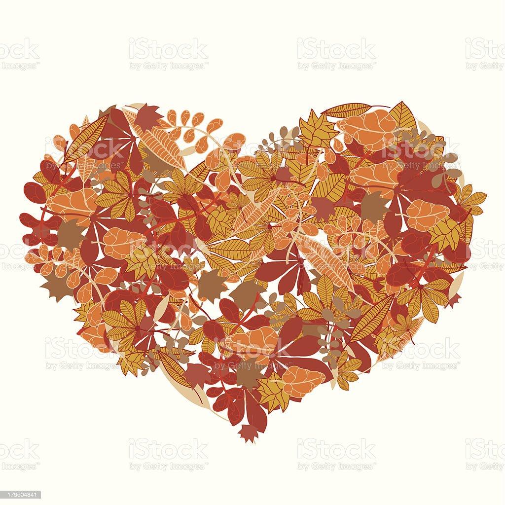 Autumn love vector art illustration