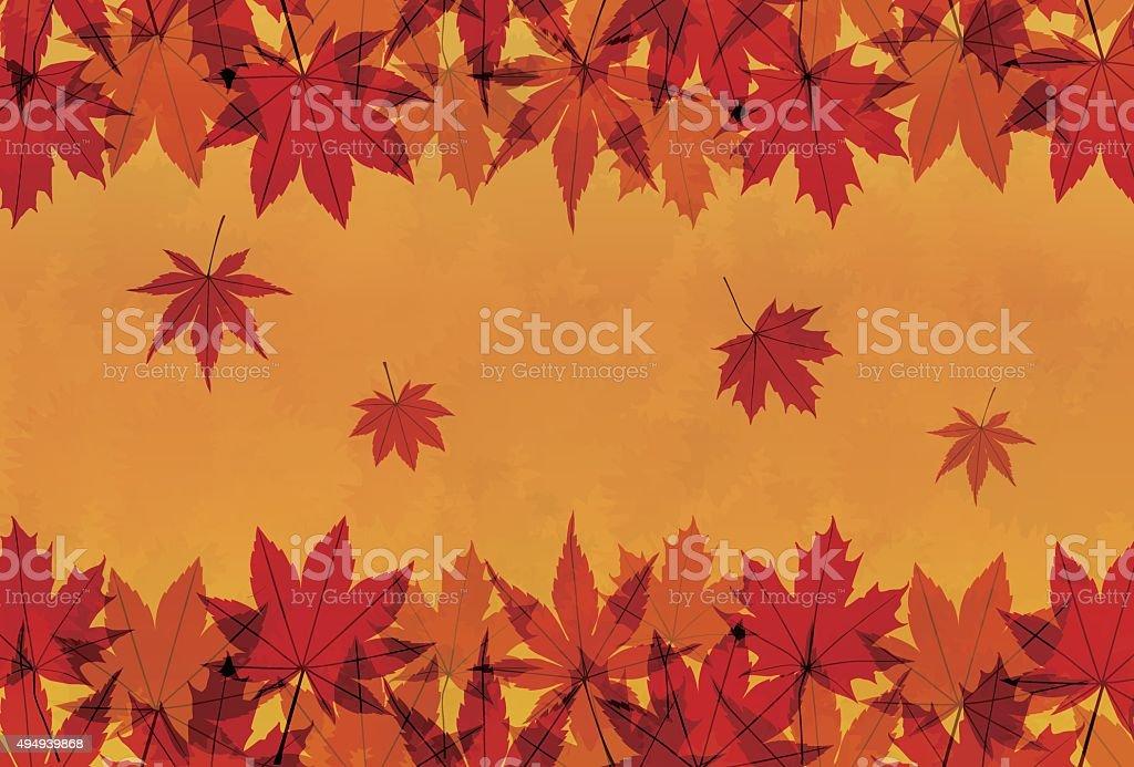 Autumn maple leaves background illustration vector art illustration