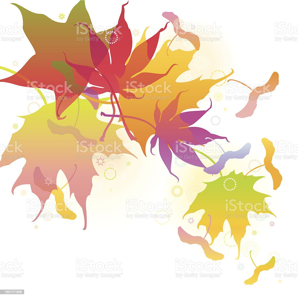 Autumn Maple Leaves Background vector art illustration