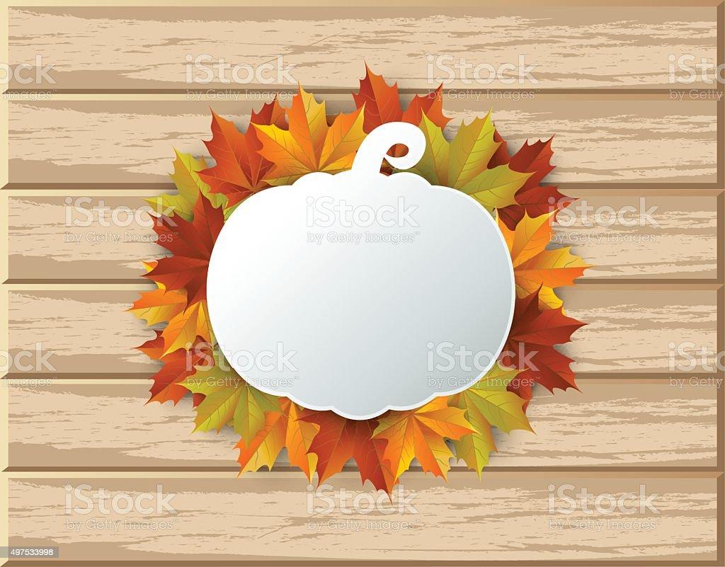 autumn, Maple leaves Background vector art illustration