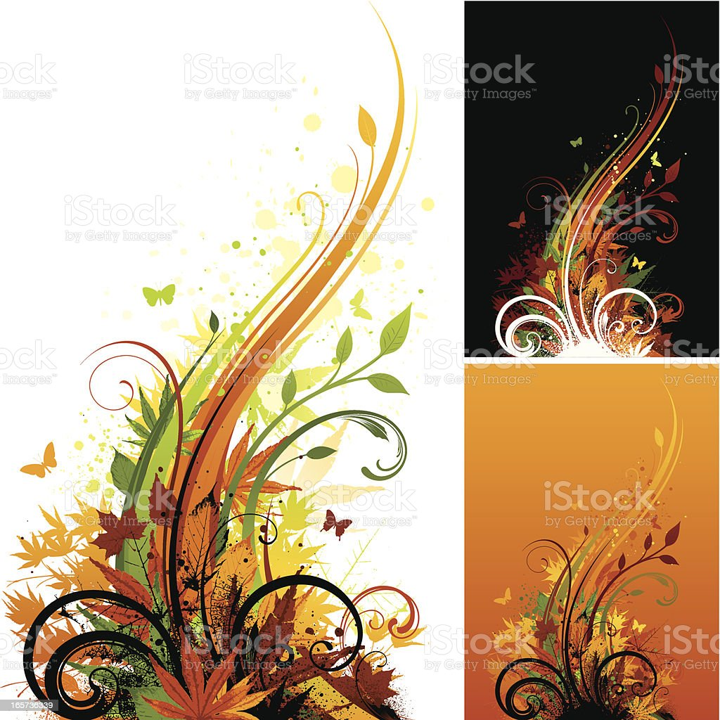 Autumn motif designs royalty-free stock vector art