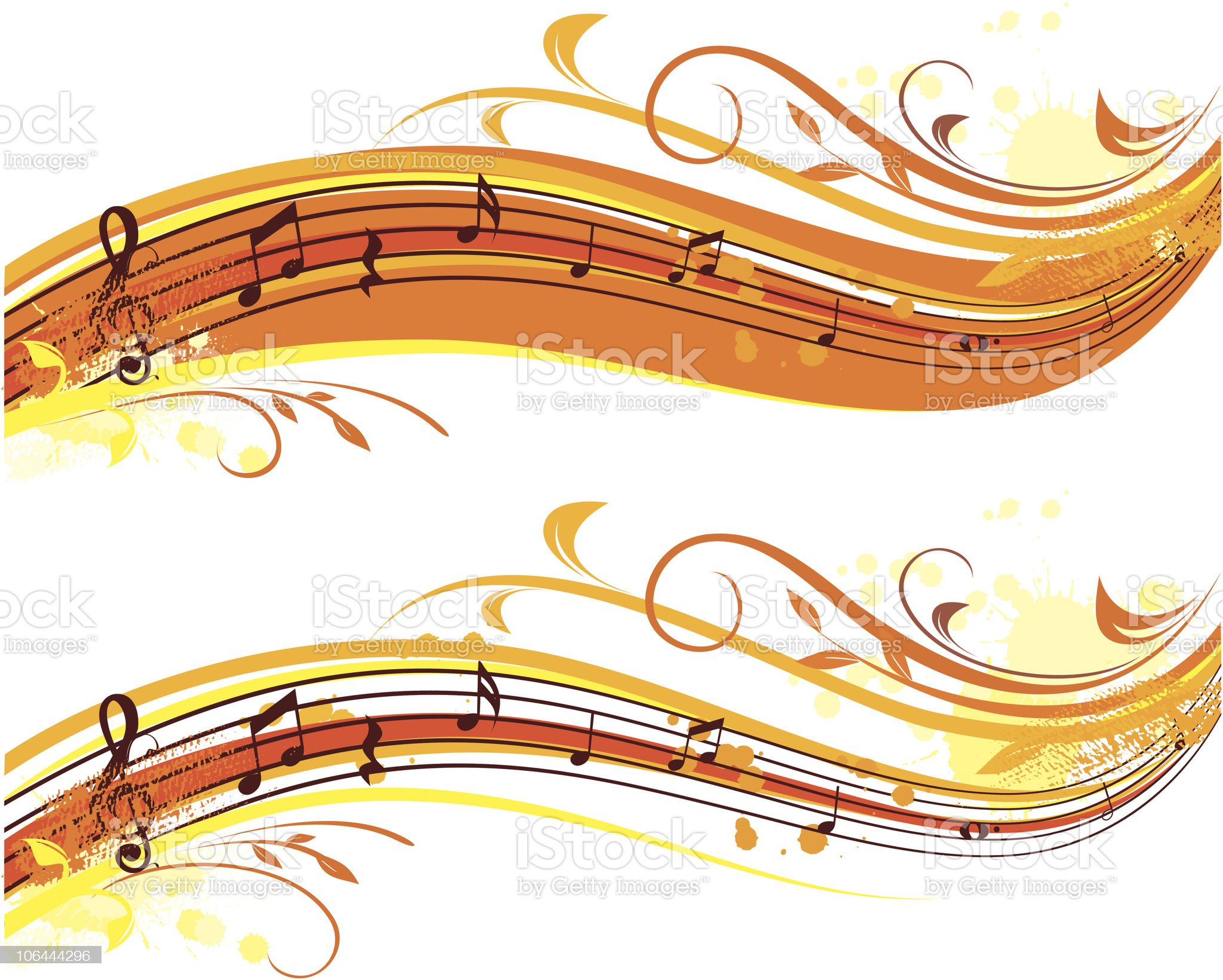 autumn musical banner royalty-free stock vector art
