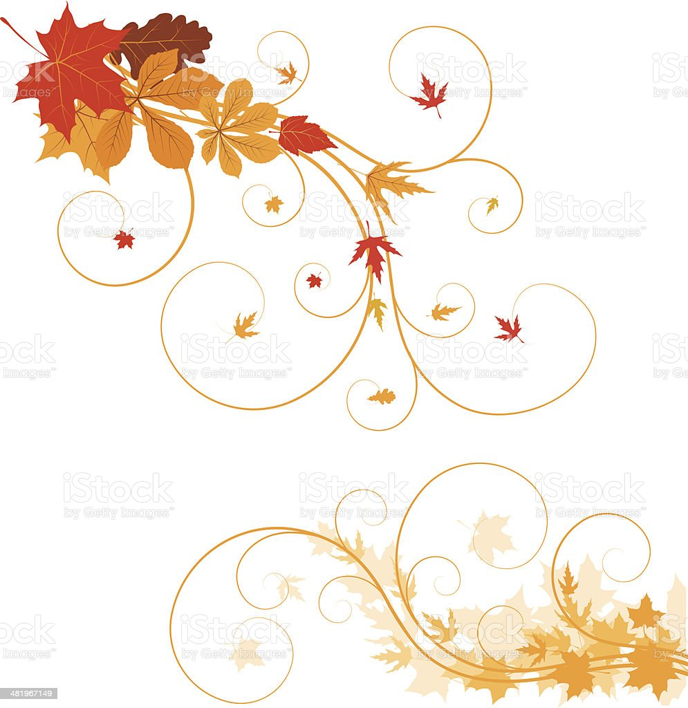 Autumn ornament royalty-free stock vector art