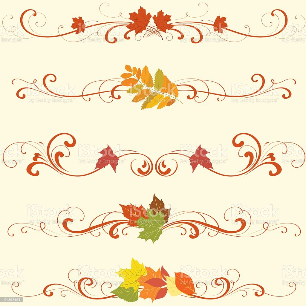 Autumn ornament vector art illustration