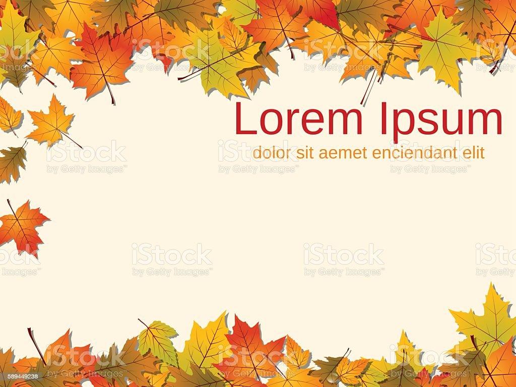 Autumn paper background vector art illustration