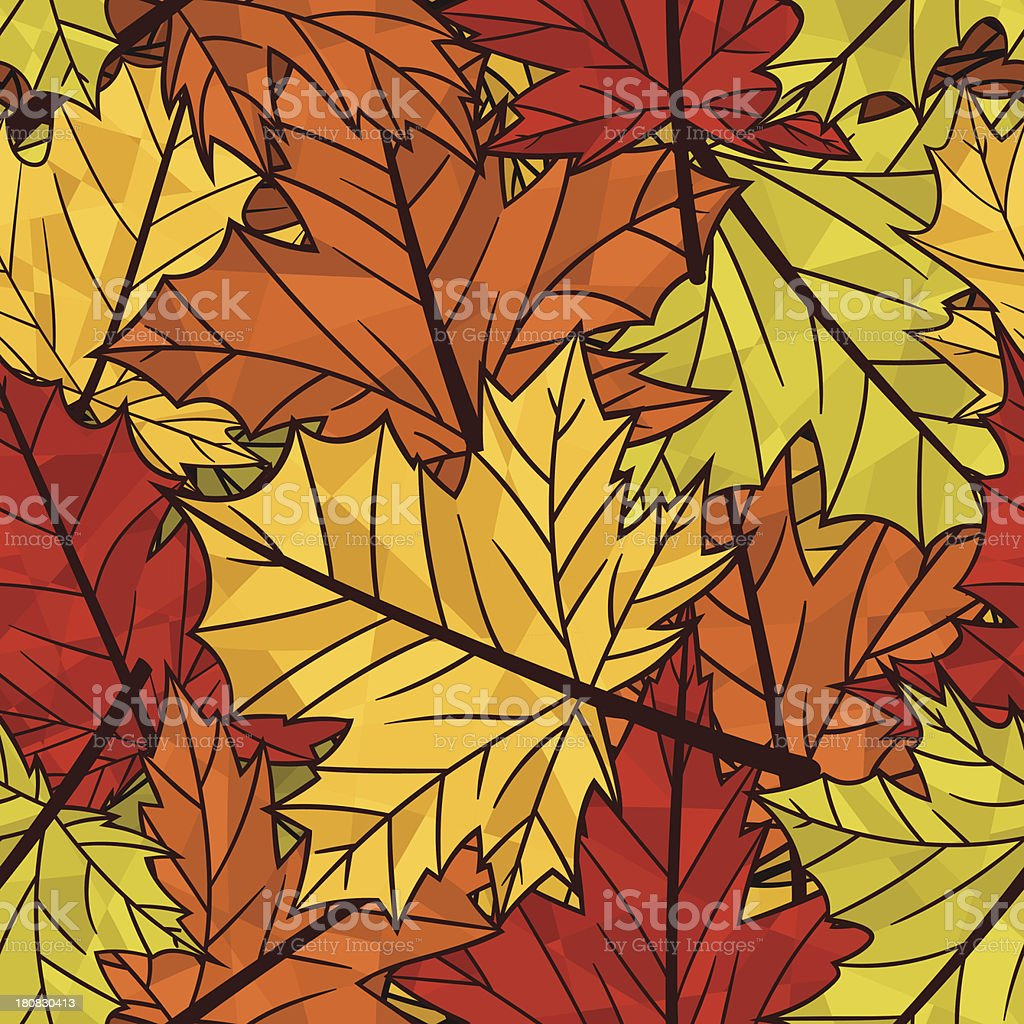 Autumn pattern royalty-free stock vector art