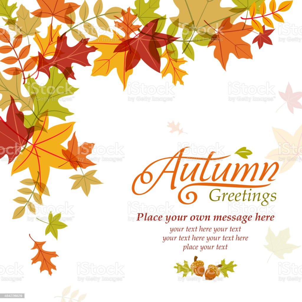 Autumn Poster royalty-free stock vector art
