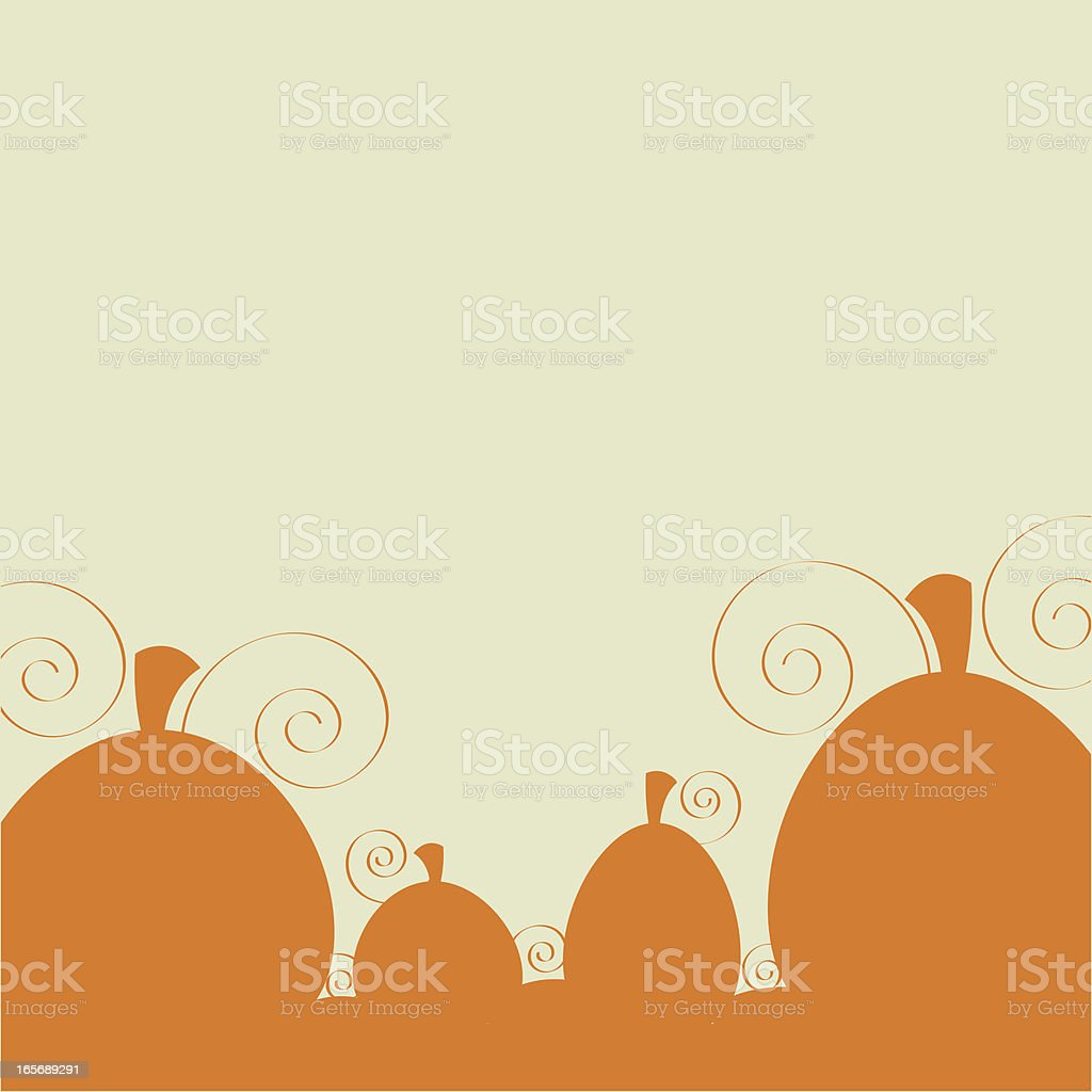 Autumn Pumpkin Patch royalty-free stock vector art