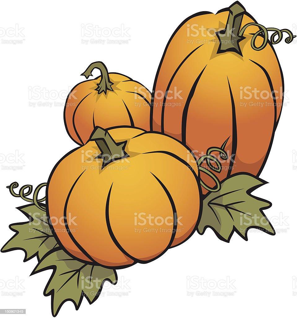 Autumn Pumpkins royalty-free stock vector art