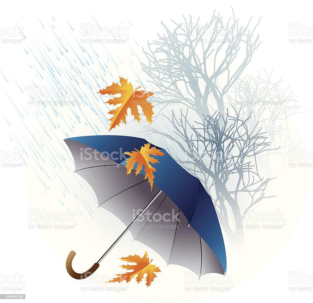 Autumn rain royalty-free stock vector art