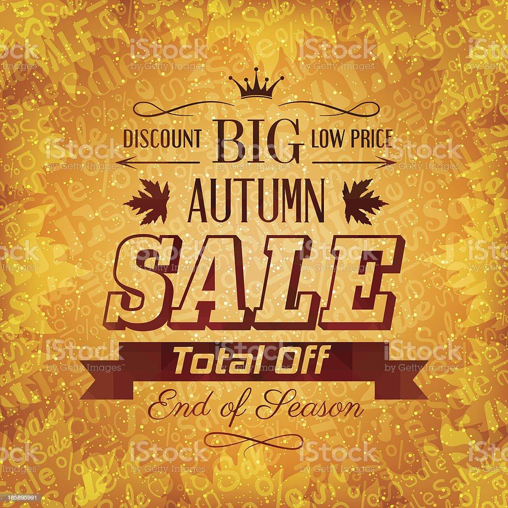 Autumn sale background royalty-free stock vector art