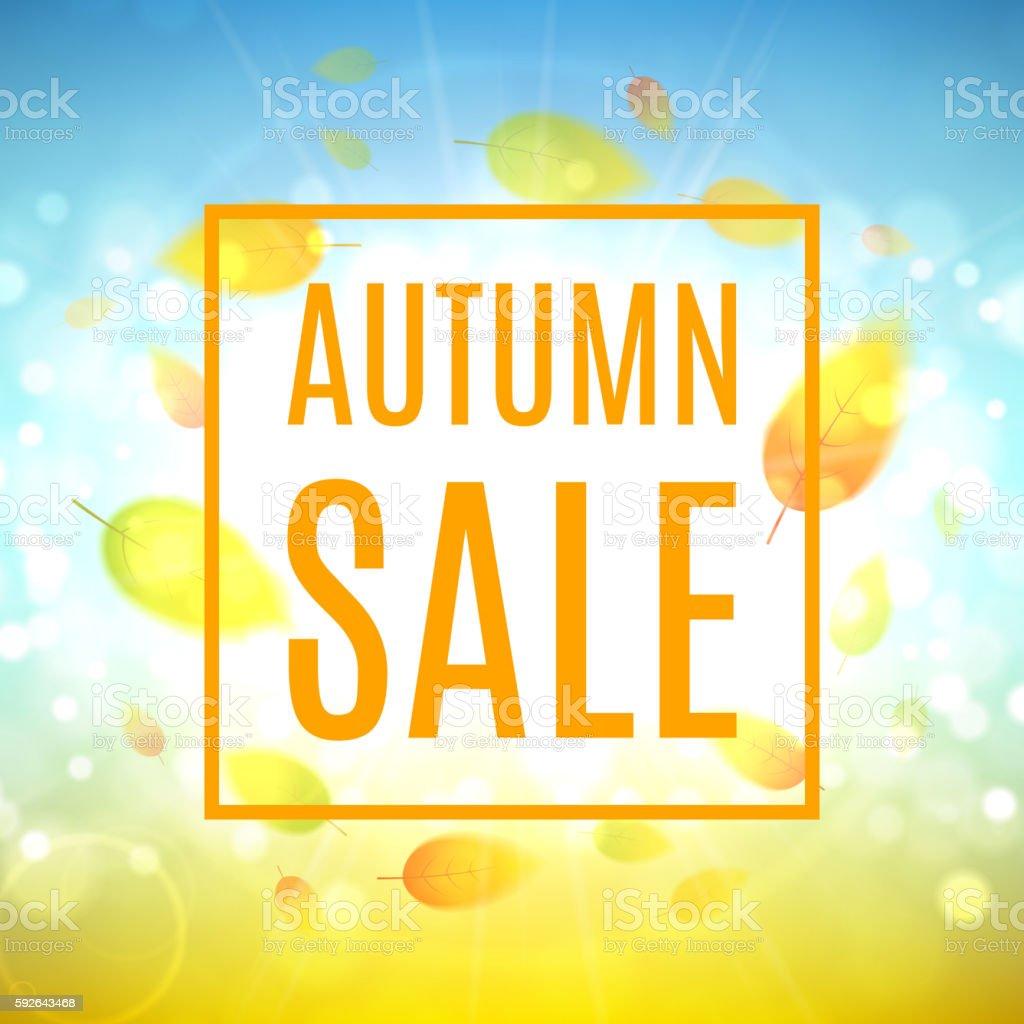 Autumn sale banner royalty-free stock vector art