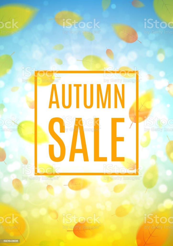Autumn sale flyer royalty-free stock vector art