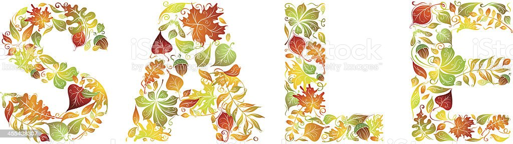 Autumn sale vector art illustration