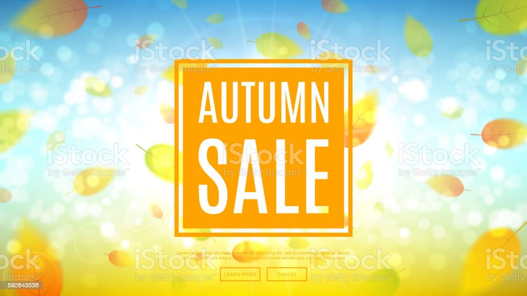 Autumn sale web banner royalty-free stock vector art