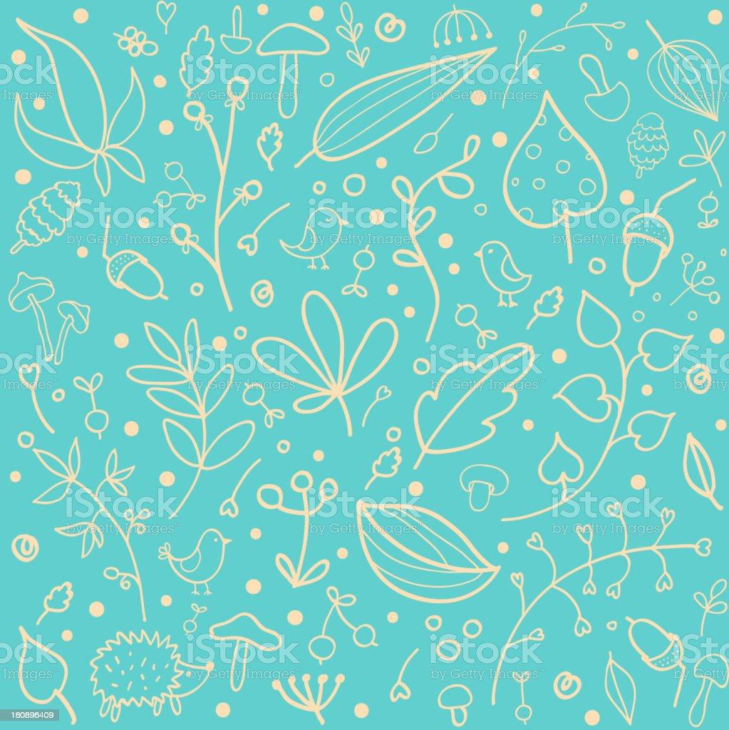 Autumn seamless pattern royalty-free stock vector art