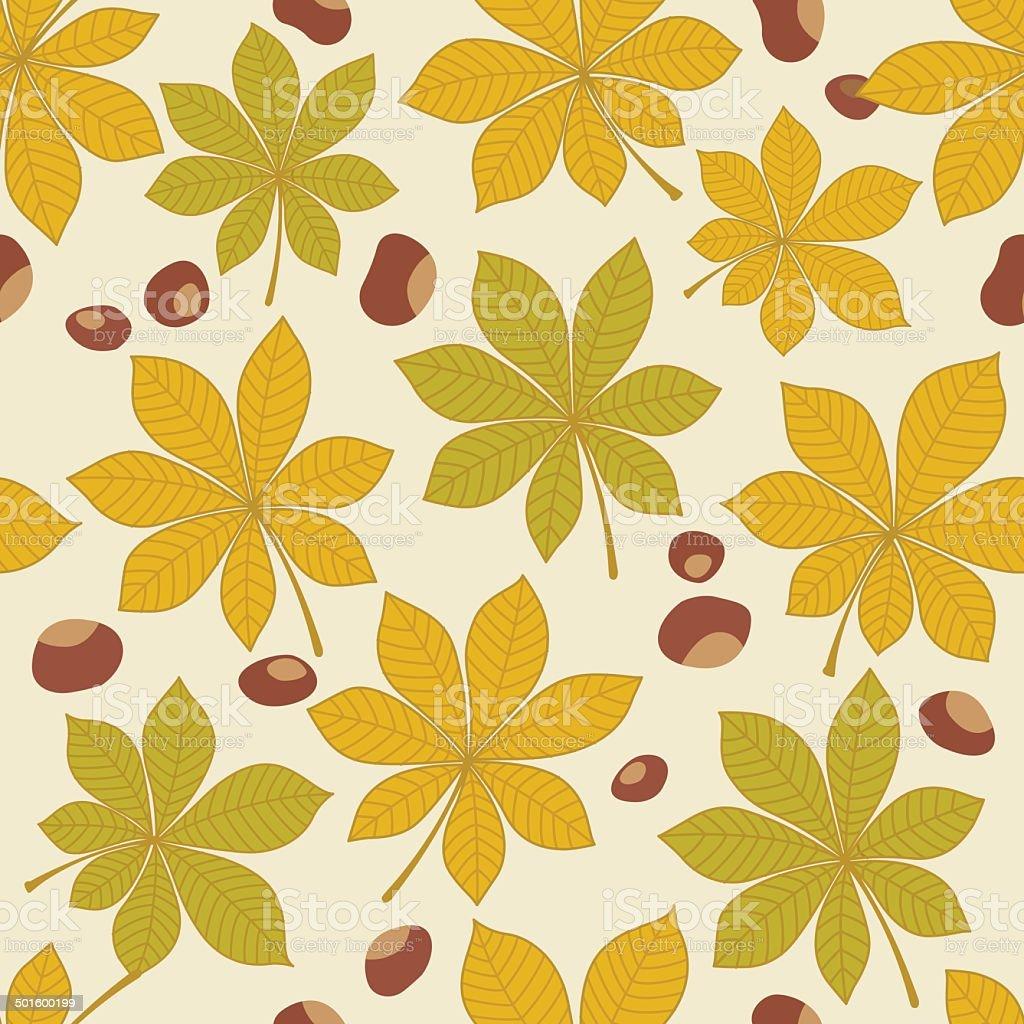 Autumn seamless pattern vector art illustration