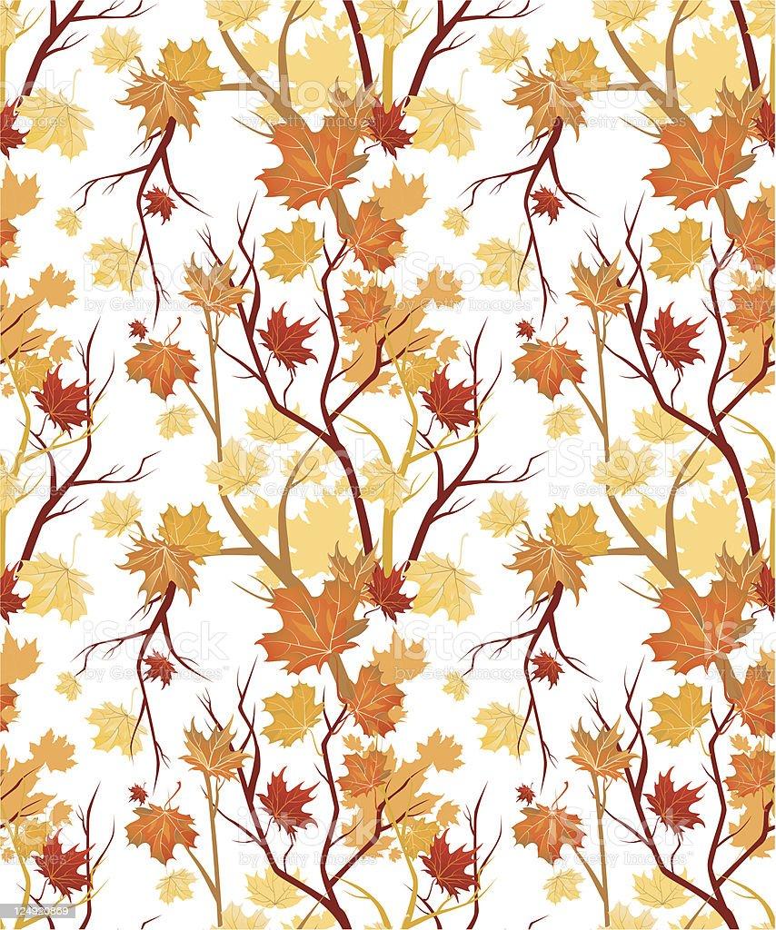 Autumn seamless royalty-free stock vector art