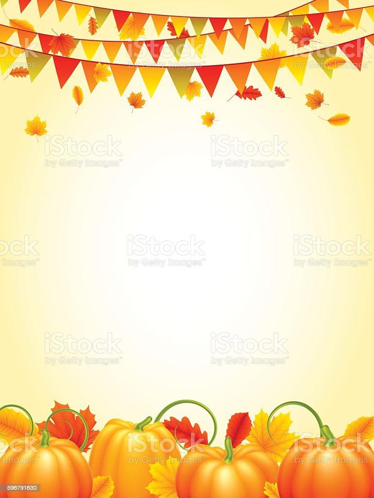 Autumn Season Background vector art illustration