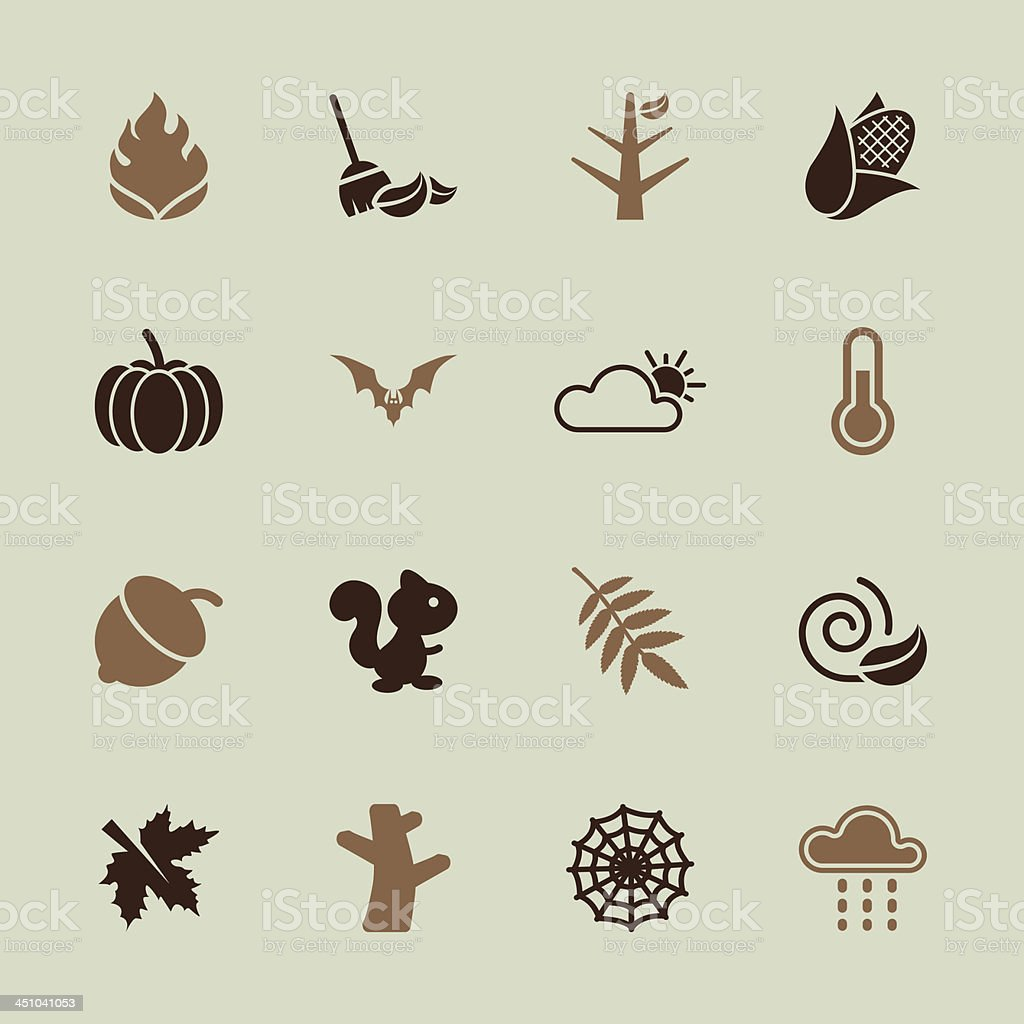 Autumn Season Icons - Color Series | EPS10 royalty-free stock vector art