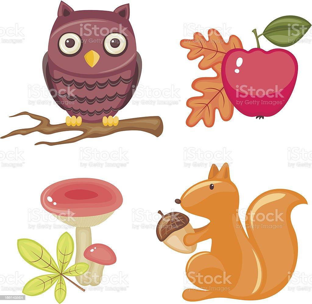 Autumn seasonal set royalty-free stock vector art