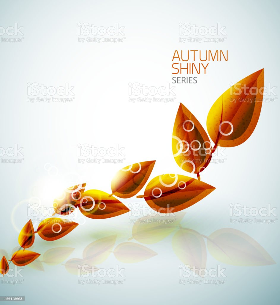 Autumn shiny flying leaves background royalty-free stock vector art
