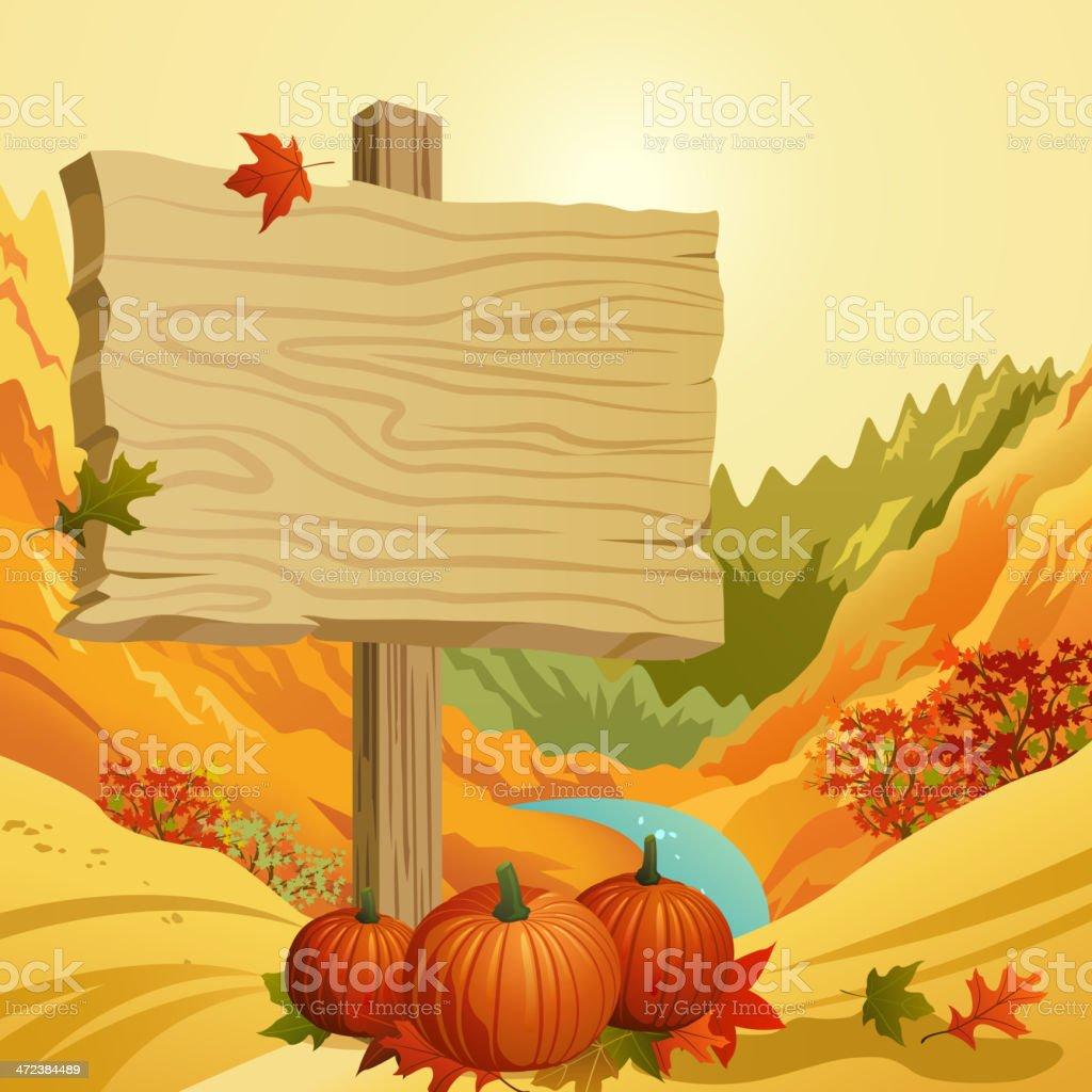 Autumn Signpost royalty-free stock vector art