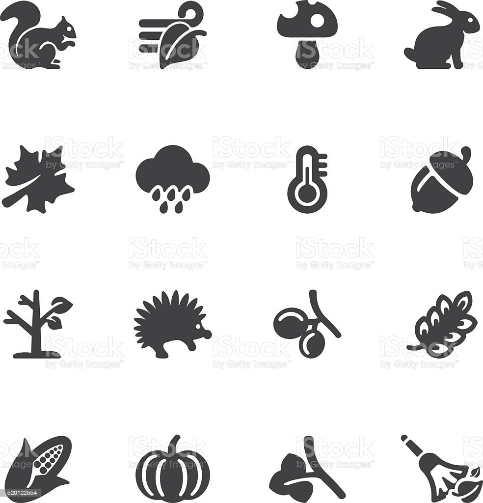 Autumn Silhouette icons | EPS10 vector art illustration