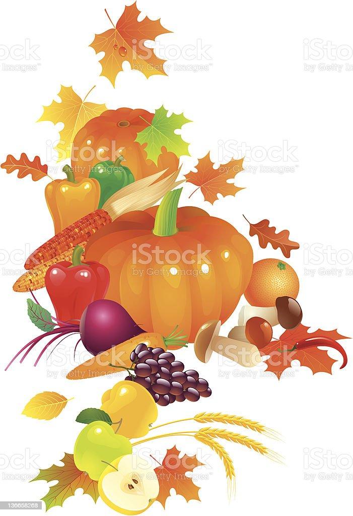 Autumn Still Life royalty-free stock vector art