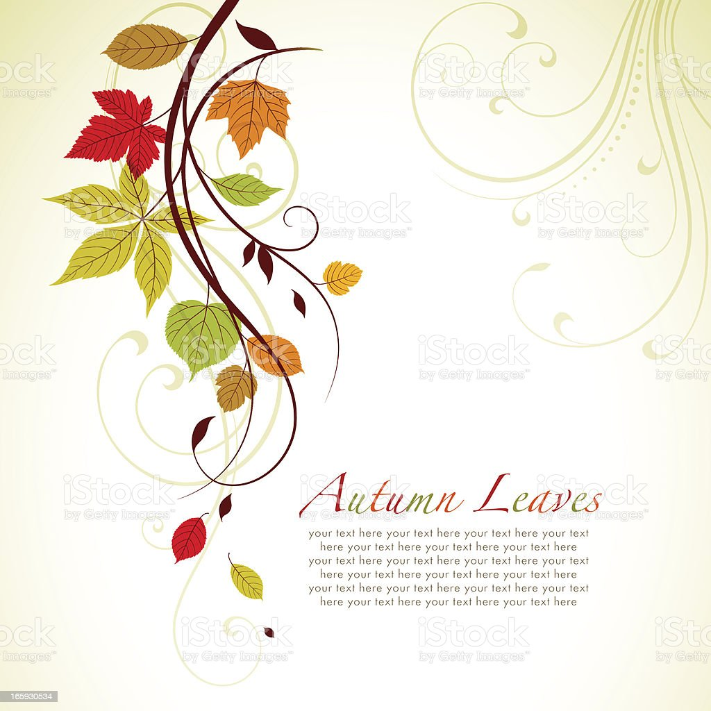 Autumn Swirl Background vector art illustration