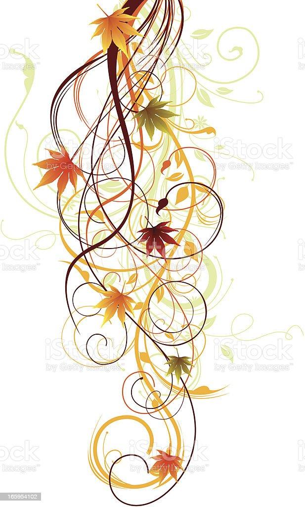 Autumn Swirls. vector art illustration