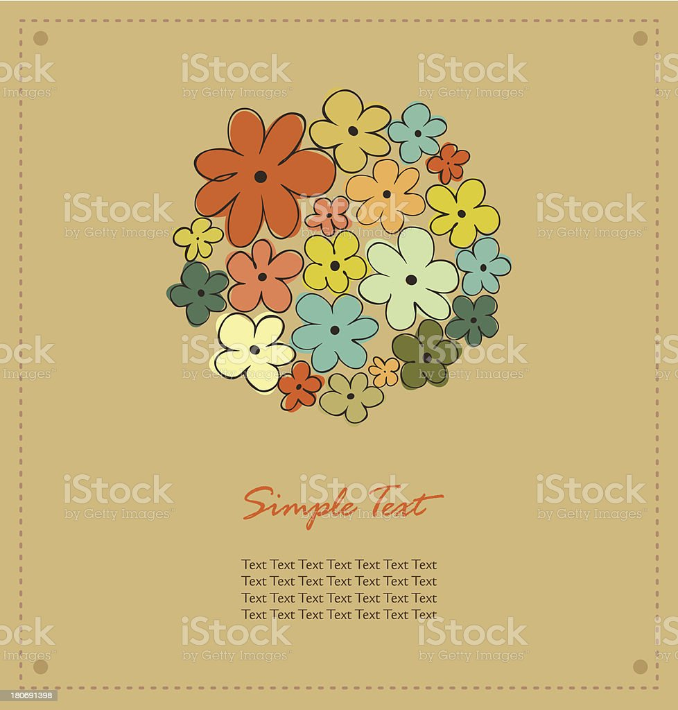 Autumn template for design with floral circl royalty-free stock vector art