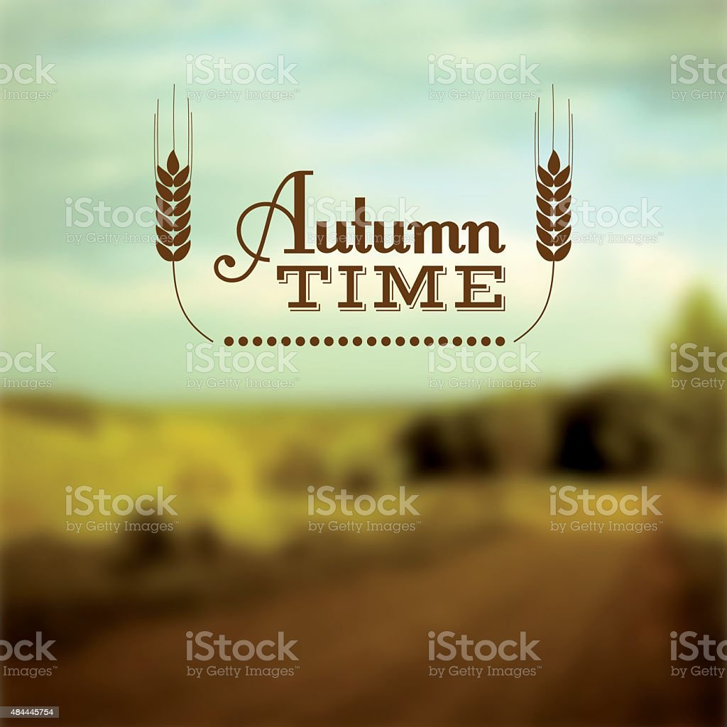 Autumn time vector insignia vector art illustration