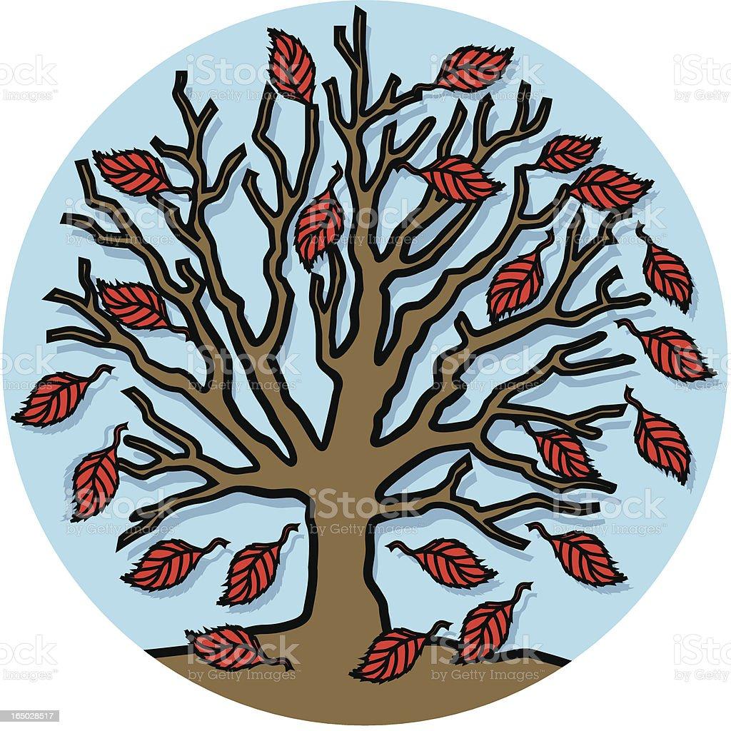 autumn tree icon royalty-free stock vector art