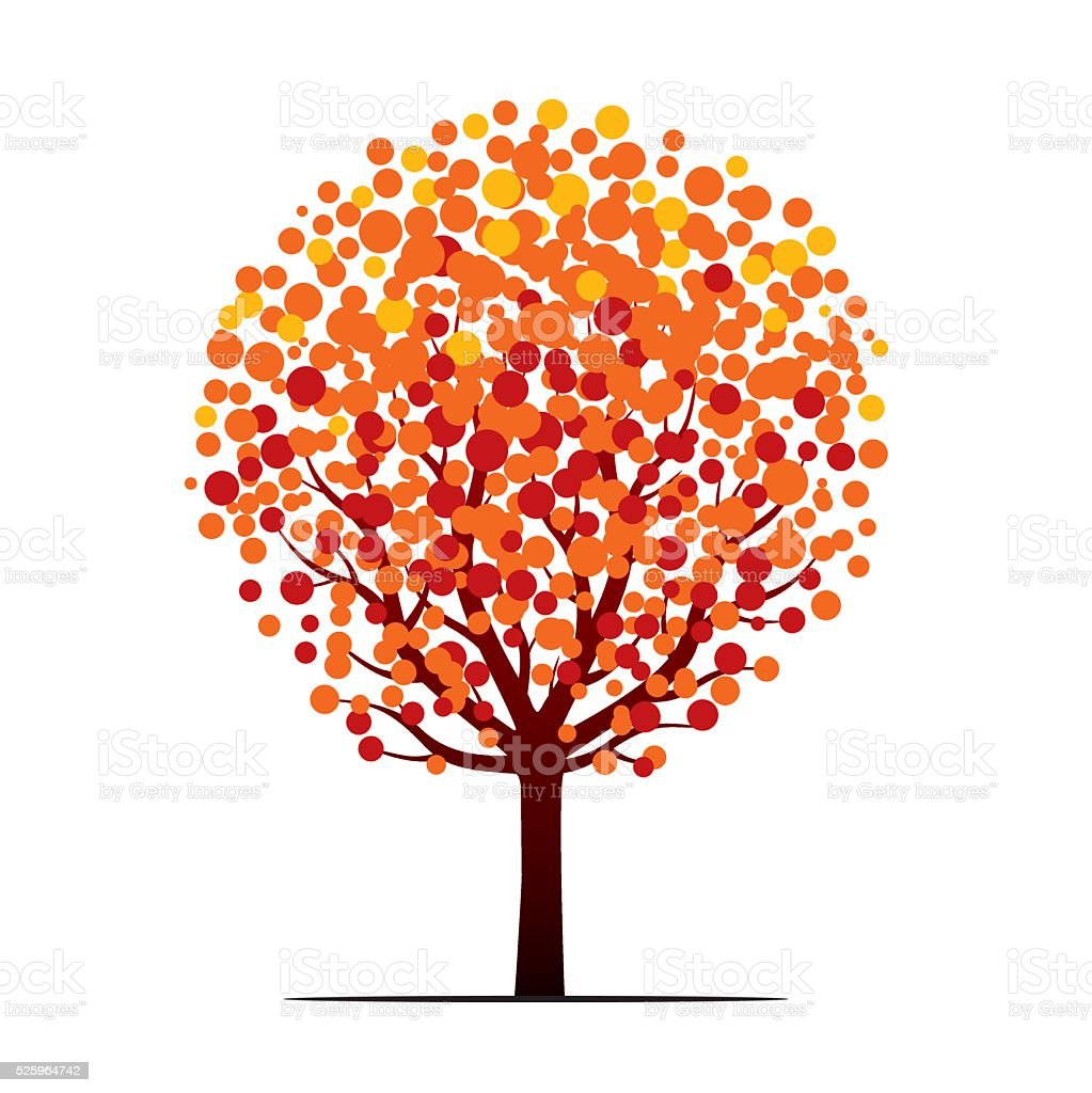 Autumn Tree. Vector Illustration. vector art illustration