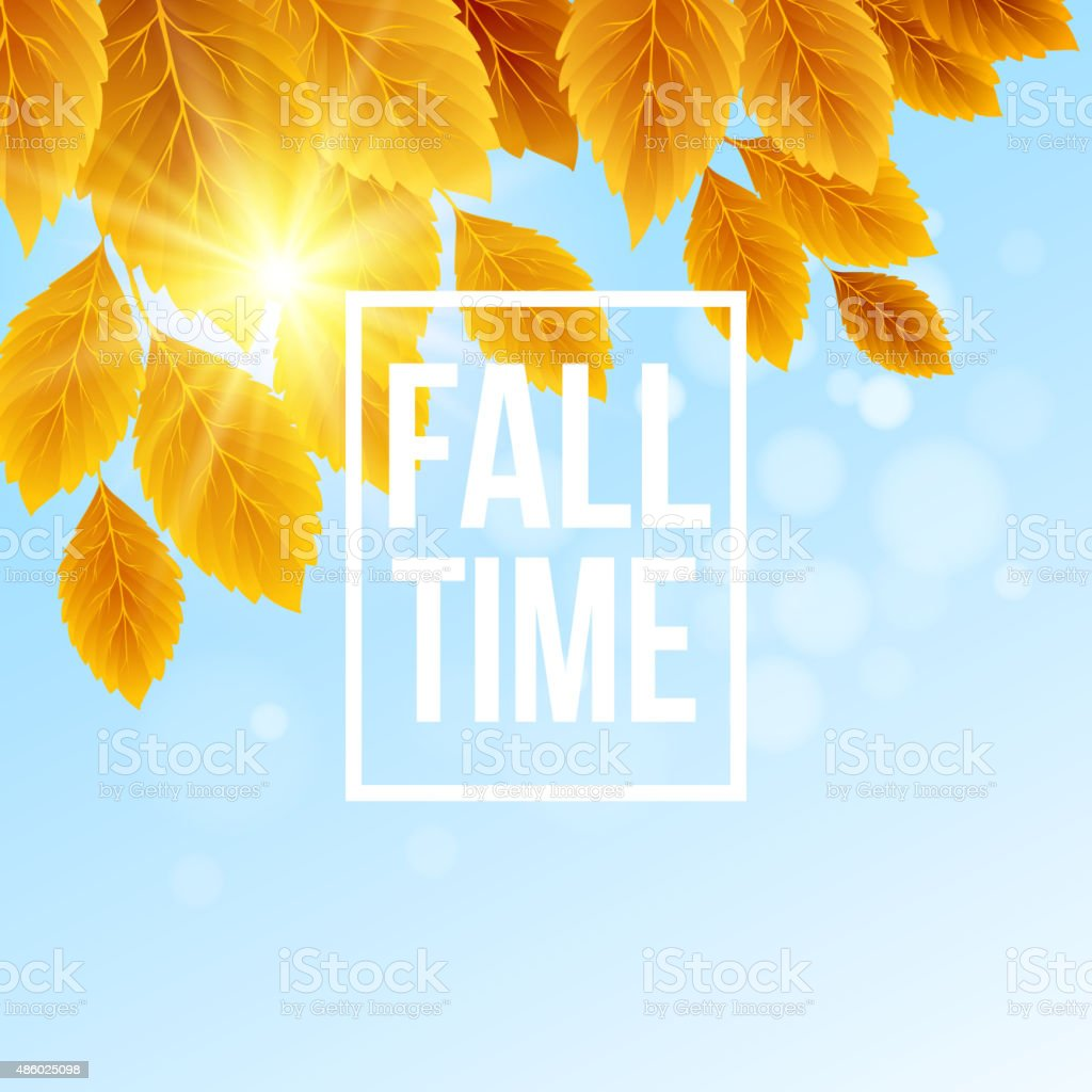 Autumn typographic. Fall leaf. Vector illustration vector art illustration