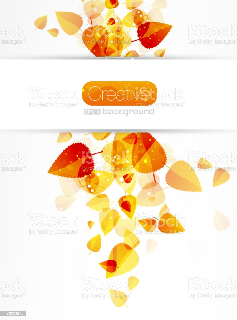 Autumn vector abstract background royalty-free stock vector art